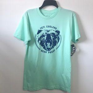 NWT Men's Yeti Seafoam Shirt Sleeve Tee SZ S